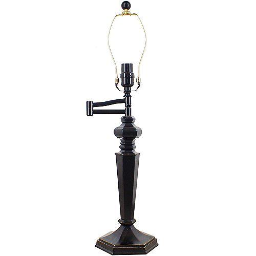 Hampton Bay Dark Bronze Swing Arm Table Lamp