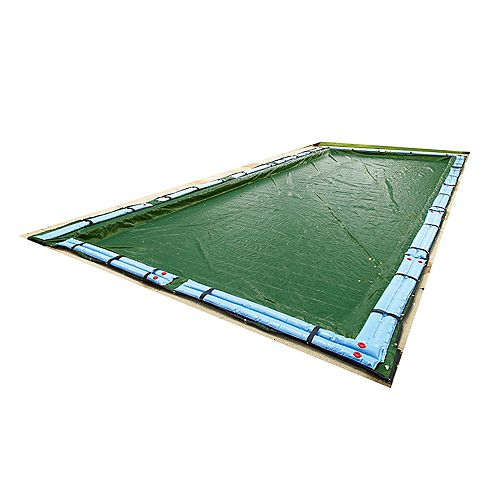 Blue Wave 12-Year 16 ft. x 24 ft. Rectangular In-Ground Pool Winter Cover