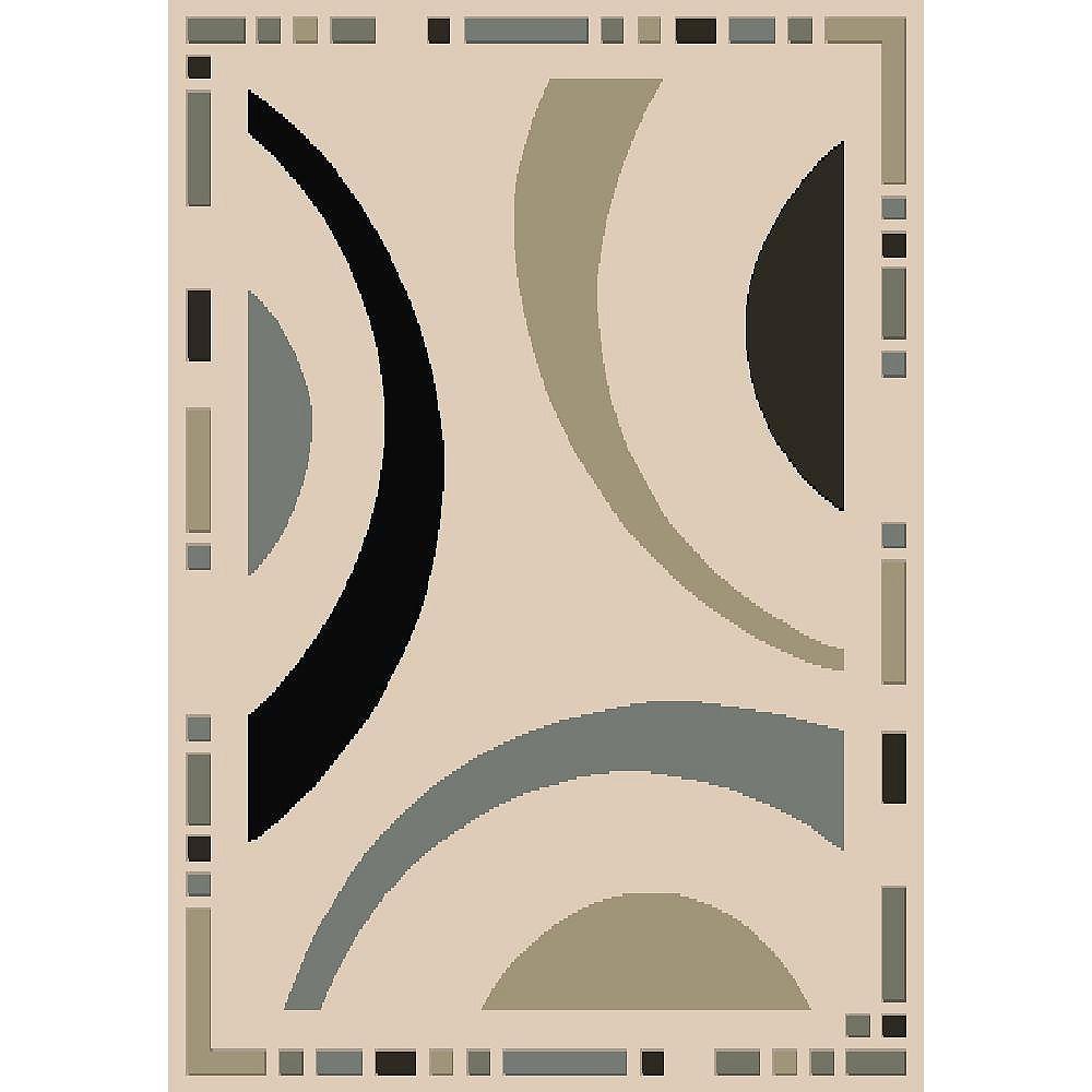 Cam Living Carpette, 3 pi 9 po x 5 pi 2 po, rectangulaire, havane Lauren Design