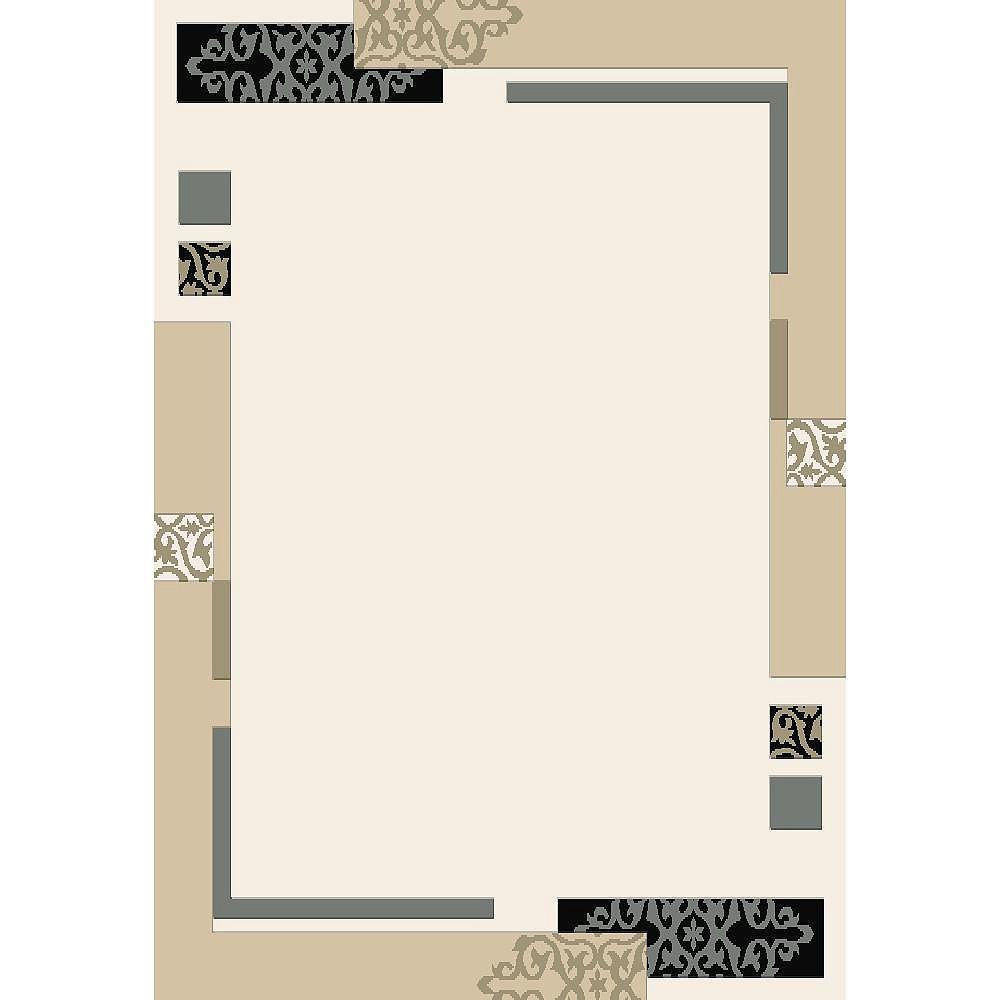 Cam Living Carpette, 3 pi 9 po x 5 pi 2 po, rectangulaire, havane Morgan