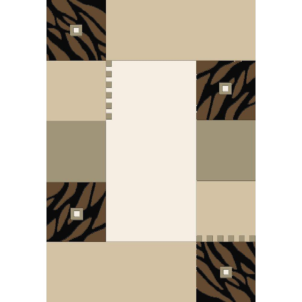 Cam Living Millwood Beige Tan 2 ft. 6-inch x 4 ft. 9-inch Rectangular Area Rug