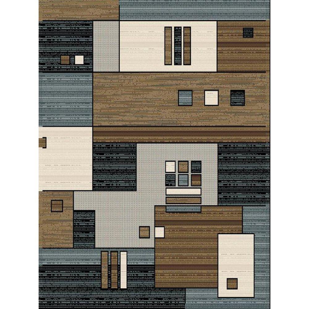 Cam Living Tyler Brown 7 ft. 8-inch x 10 ft. 8-inch Rectangular Area Rug