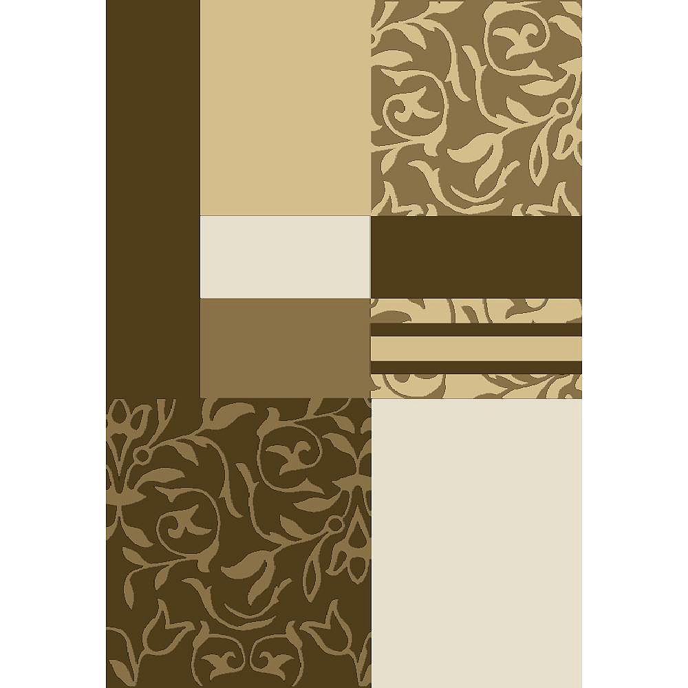 Cam Living Carpette, 6 pi 5 po x 9 pi 5 po, rectangulaire, brun Tyler