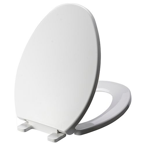 Elongated Toilet Seat in White