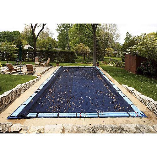 Filet para-feuilles pour bâche de piscine creusée rectangulaire 3,7 m x 6,1 m (12 pi x 20 pi)