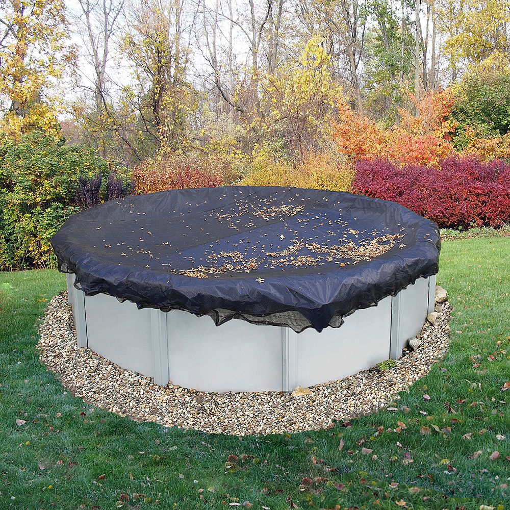Blue Wave 24 ft. Round Leaf Net Above-Ground Pool Cover