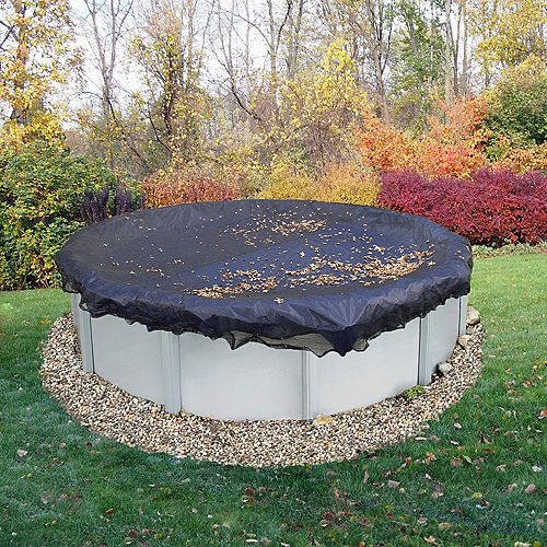 18 ft. Round Leaf Net Above-Ground Pool Cover