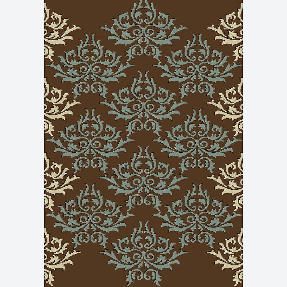 Cam Living Carpette, 7 pi 8 po x 10 pi 8 po, rectangulaire, brun Ashton
