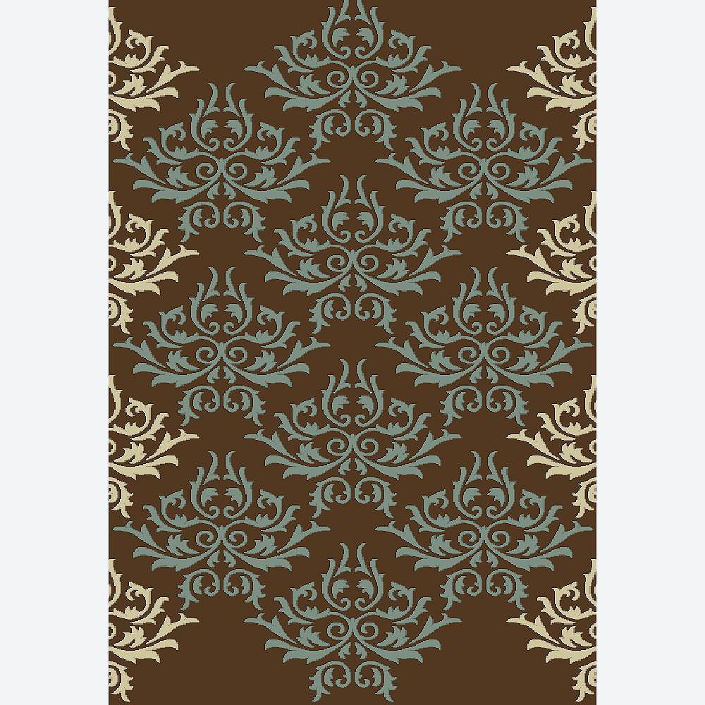 Cam Living Carpette, 6 pi 5 po x 9 pi 5 po, rectangulaire, brun Ashton
