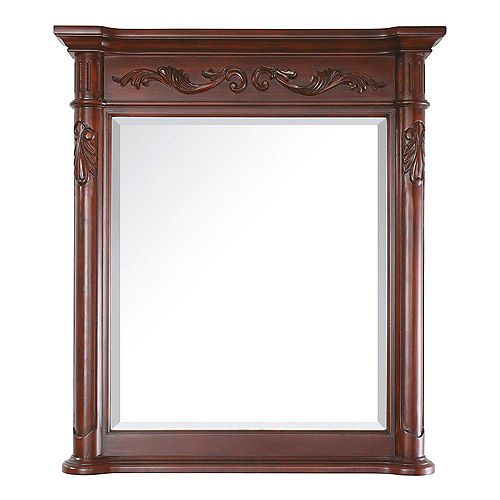 Provence 36 Inch Mirror in Antique Cherry Finish