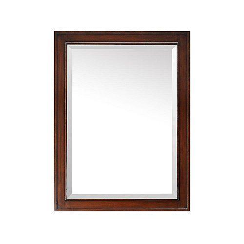 Brentwood 32-inch L x 24-inch W Single Wall Mirror in Walnut