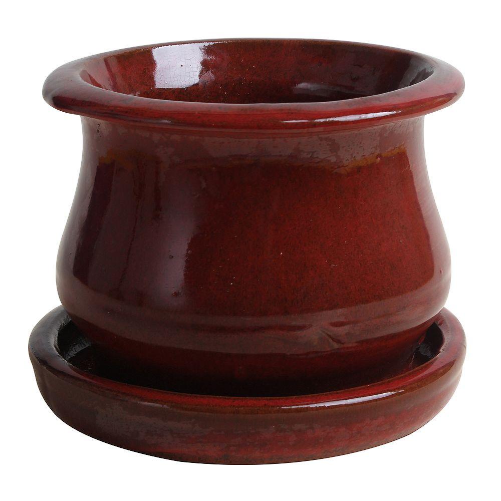 Trendspot Cloche basse suspendue - Rouge de 15.24 cm