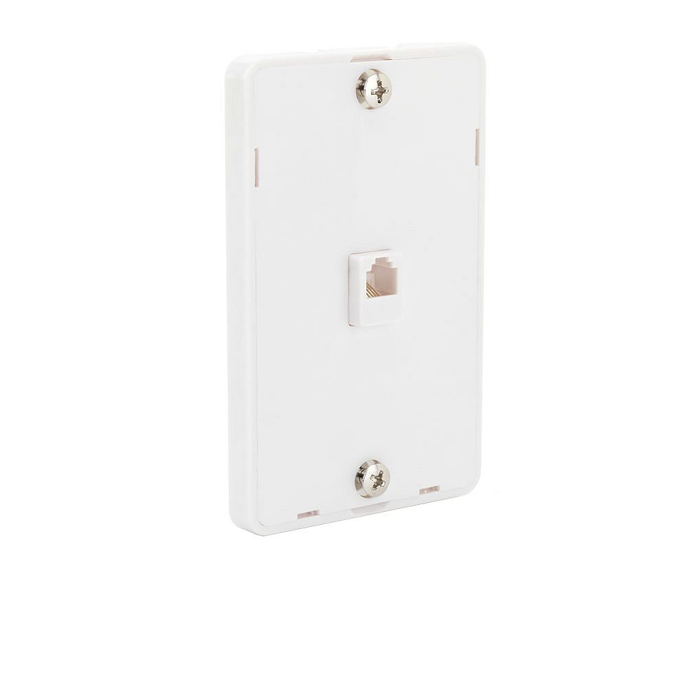 Commercial Electric 1-Line Phone Wall Mount - White