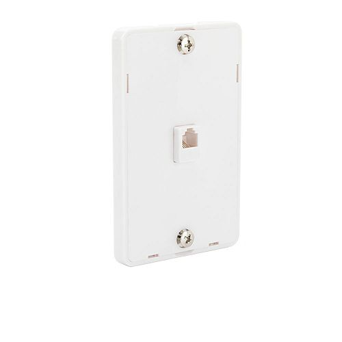 1-Line Phone Wall Mount - White