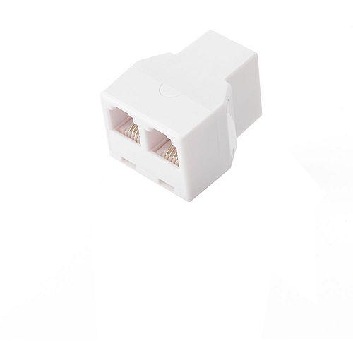 2-Way Telephone Splitter - White