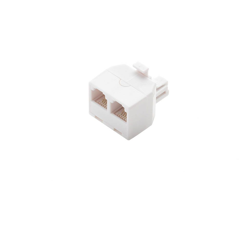 Commercial Electric 2-Way Telephone Splitter, White
