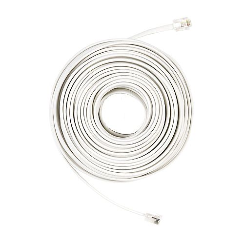 Commercial Electric 50 ft. Telephone Line Cord, White
