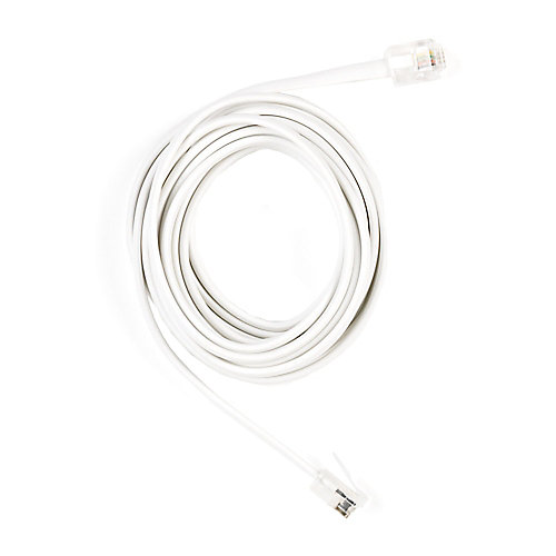 7 ft. Telephone Line Cord, White