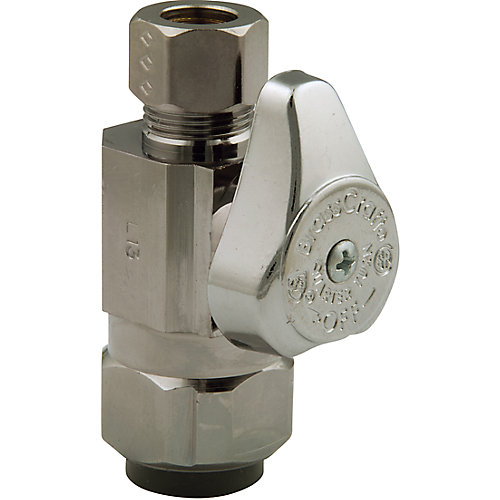 Straight Valve 1/2 Inch Nominal Push Connect X 3/8 Inch Od Compression