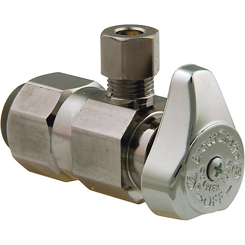 Angle Valve 1/2 Inch Nominal Push Connect X 1/4 Inch Od Compression