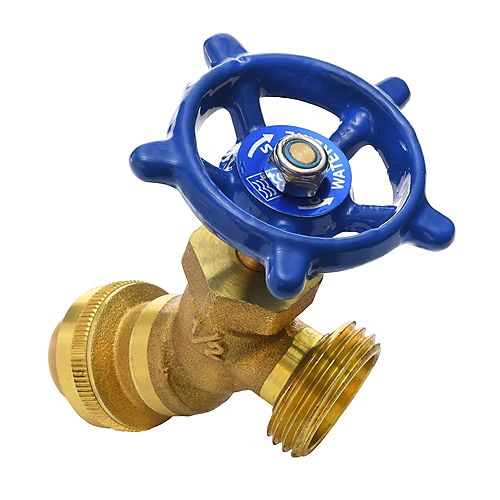 "1/2"" Push Fit x 3/4"" MHT Push'N'Connect Brass Sediment Valve"