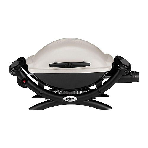 Q 1000 Portable Liquid Propane BBQ in Titanium