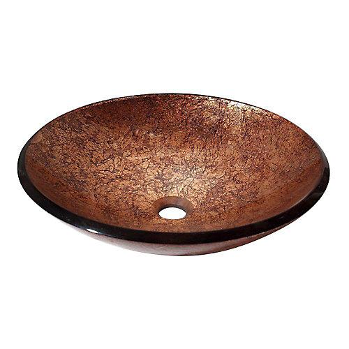 18-inch x 18-inch x 5-inch Circular Bathroom Sink