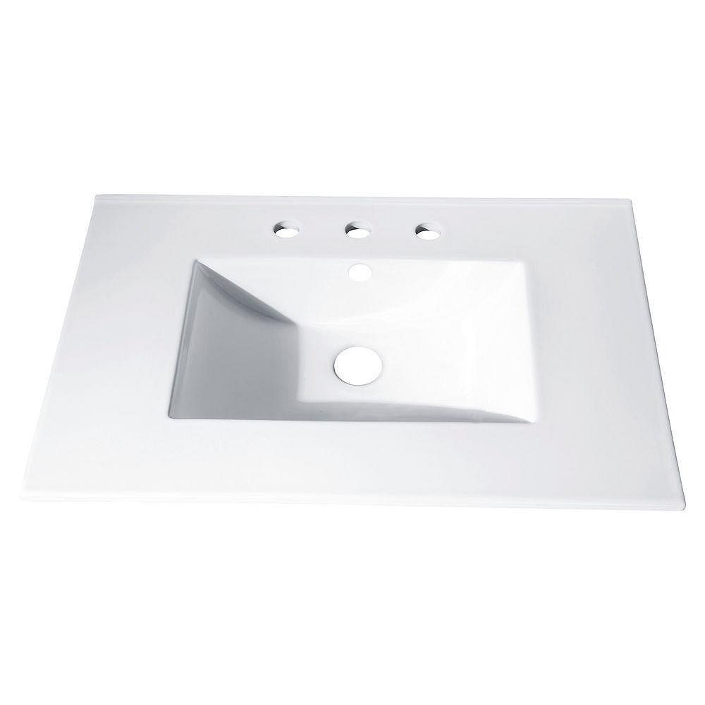 Avanity 37-inch x 22-inch Vitreous China Vanity Top with Rectangular Bowl in White