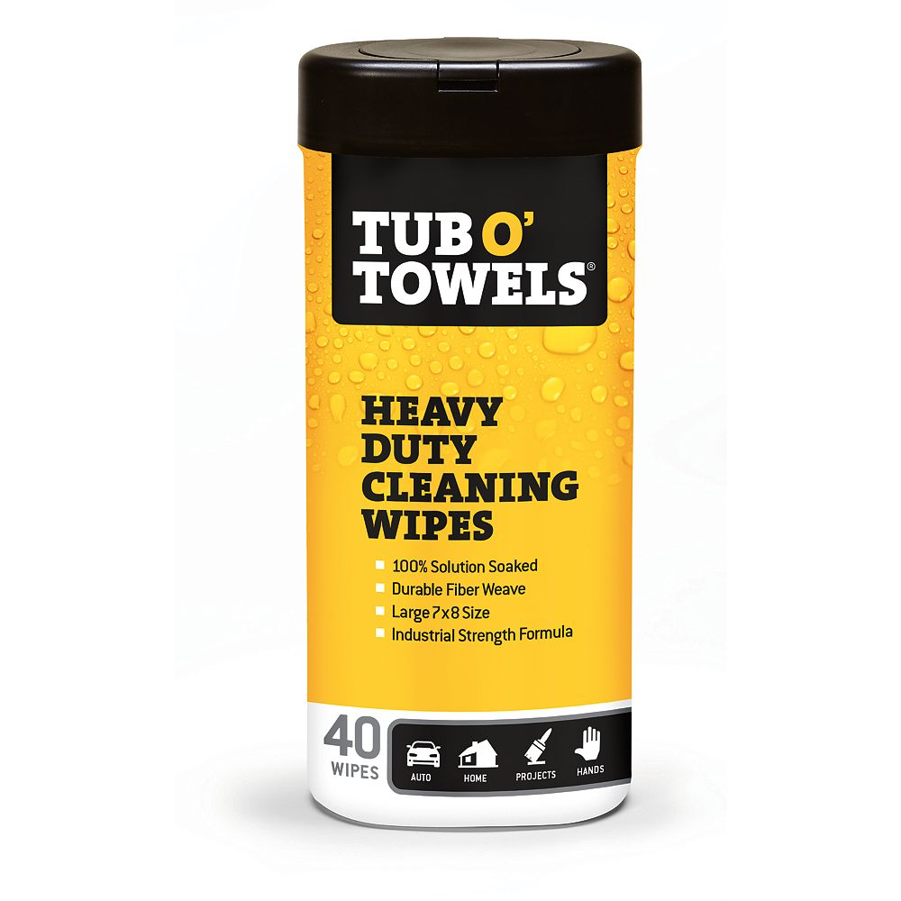 Tub O'Towels Multi-Purpose Heavy Duty Cleaning Wipes (40-Pack)