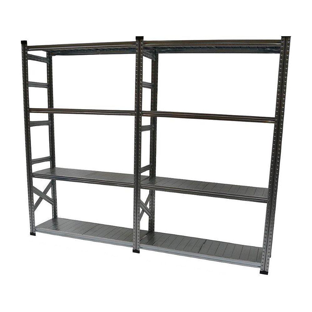 Metalsistem Ensemble d'étagères de base de fabrication robuste avec tablette de complément (5 tablettes)