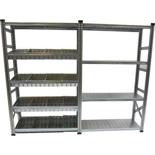 Metalsistem Ensemble d'étagères fixe et à ajouter de fabrication robuste avec contenant modulaire
