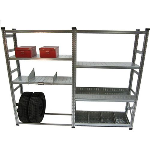 Metalsistem Heavy Duty Stater And Addon Shelving Kit with Accessories