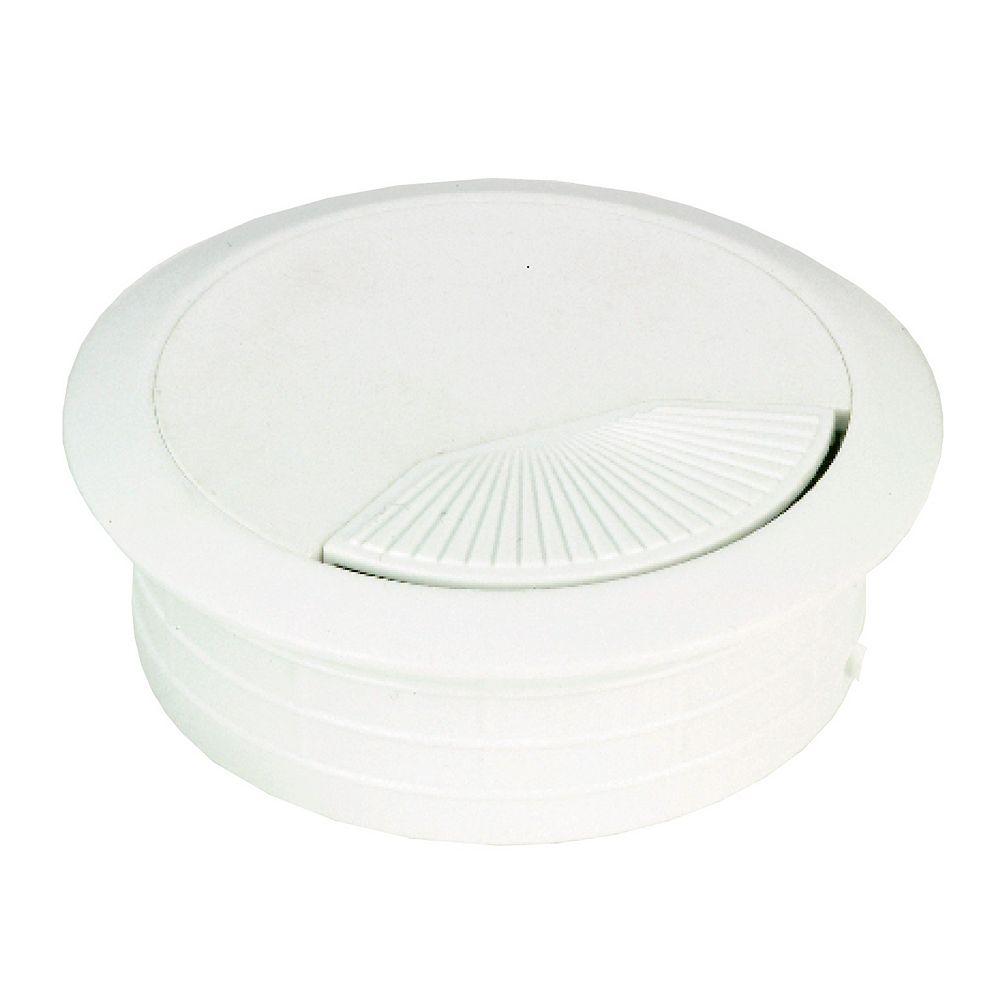 Richelieu 2 3/8 in (60 mm) Plastic Grommet, White