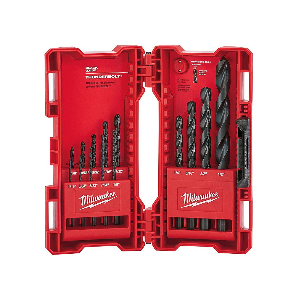 Milwaukee Tool Black Oxide Drill Bit Set (14-Piece)