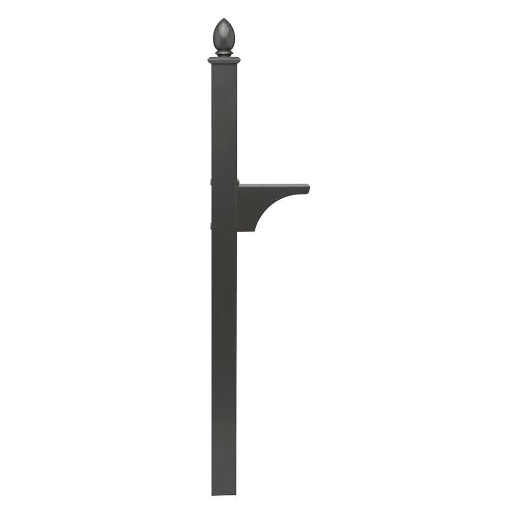 Architectural Mailboxes Piédestal Decorative noir à montage latéral et installation enterrée