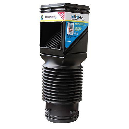 MOLE-Pipe Flex-Grate Downspout Filter (Black)