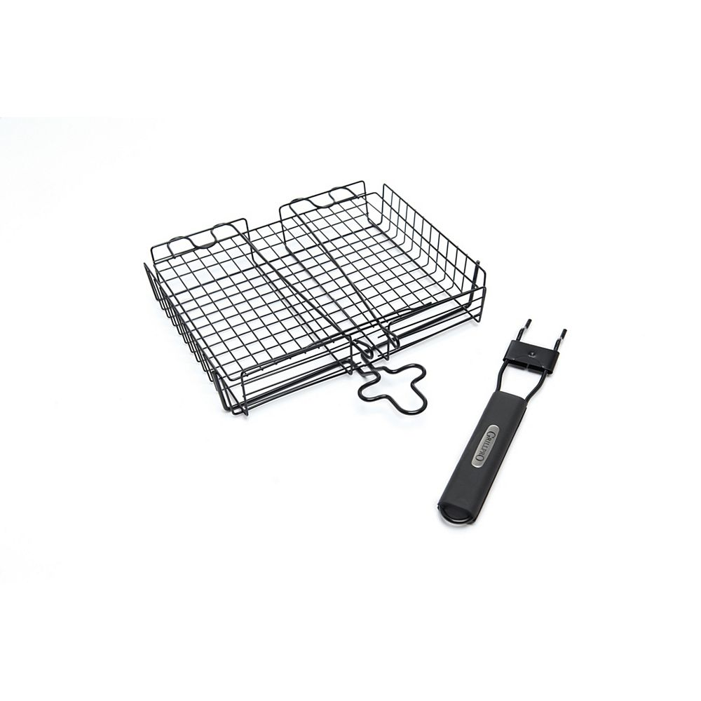 GrillPro Deluxe BBQ Broiler Basket With Detachable Handle