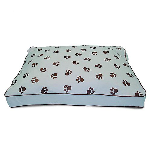 Ultima Suede Paw Print Powder Pet Bed