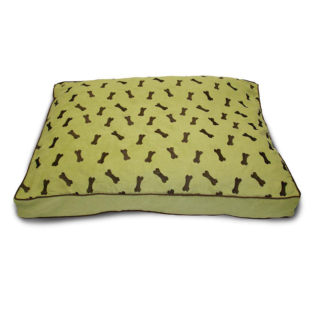 Home Fashions International Lit pour animal de compagnie en suédé Ultima à motifs dos, vert tendre