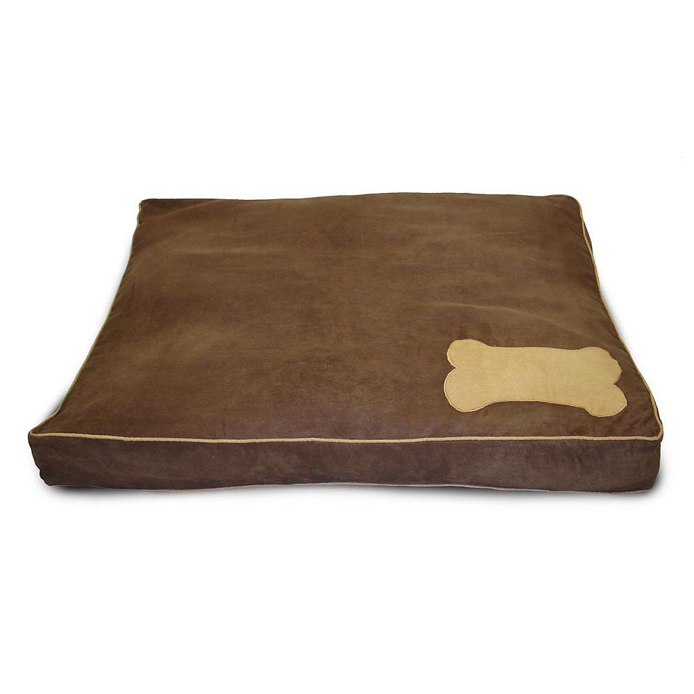 Home Fashions International Lit pour animal de compagnie en suédé Ultima chocolat et beige chevreuil
