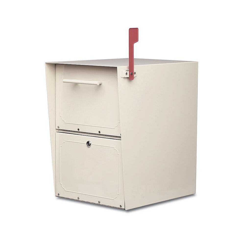 Architectural Mailboxes Boîte aux lettres verrouillable Oasis de couleur sable à montage sur piédestal