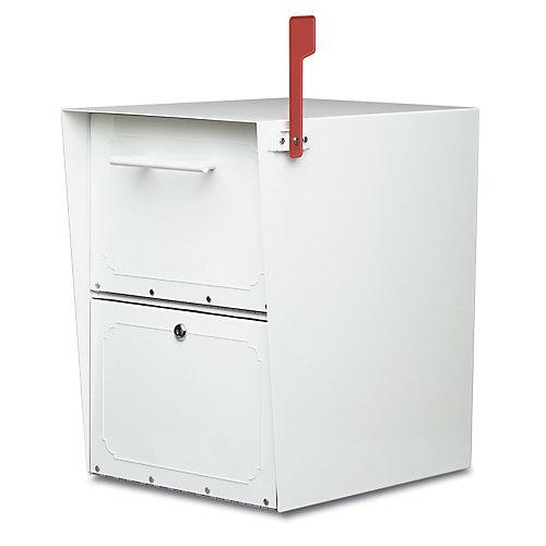Boîte aux lettres verrouillable Oasis blanche à montage sur piédestal