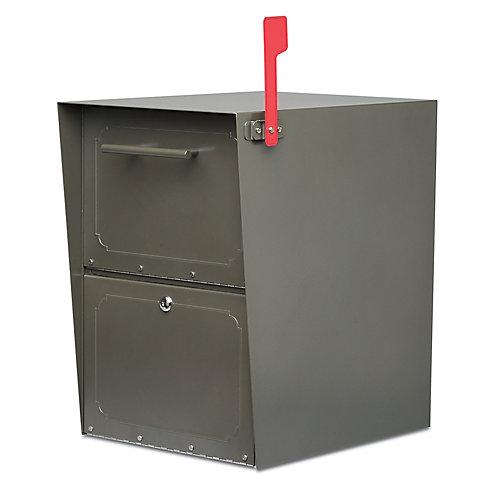 Boîte aux lettres verrouillable Oasis bronze à montage sur piédestal
