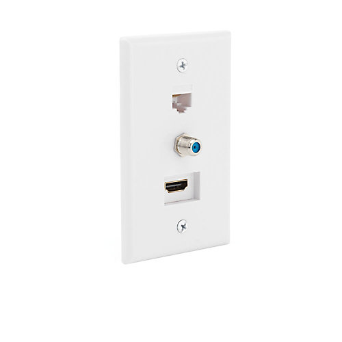 Hdmi / Coax / Ethernet Wall Plate