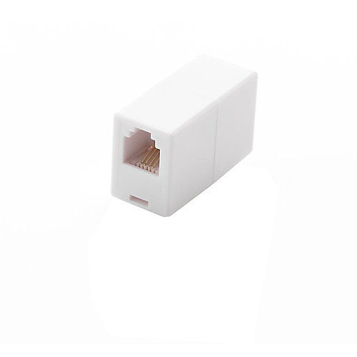 In-line Telephone Cord Coupler - White