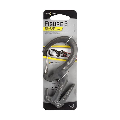 Nite Ize Nite Ize Figure 9 Carabiner Rope Tightener, Fits Rope 3mm-9mm, 150LB Load Limit, Black