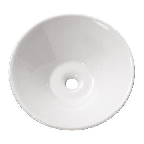 16.50-inch x 5.90-inch x 16.50-inch Circular Bathroom Sink