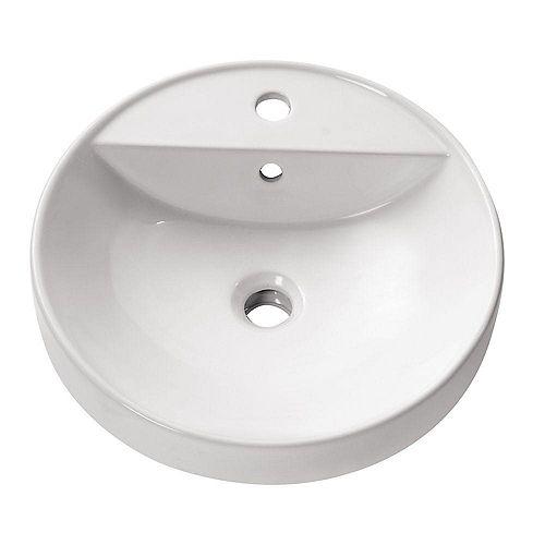 18.10-inch x 6.30-inch x 18.10-inch Circular Bathroom Sink