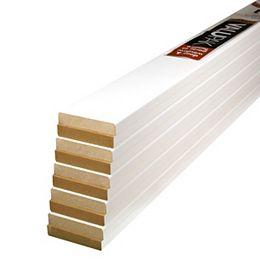(10-Pack) ValuPAK, coffrage moderne en panneaux de fibres de bois apprêtées MDF de 1/2 pouce x 2 1/2 pouce