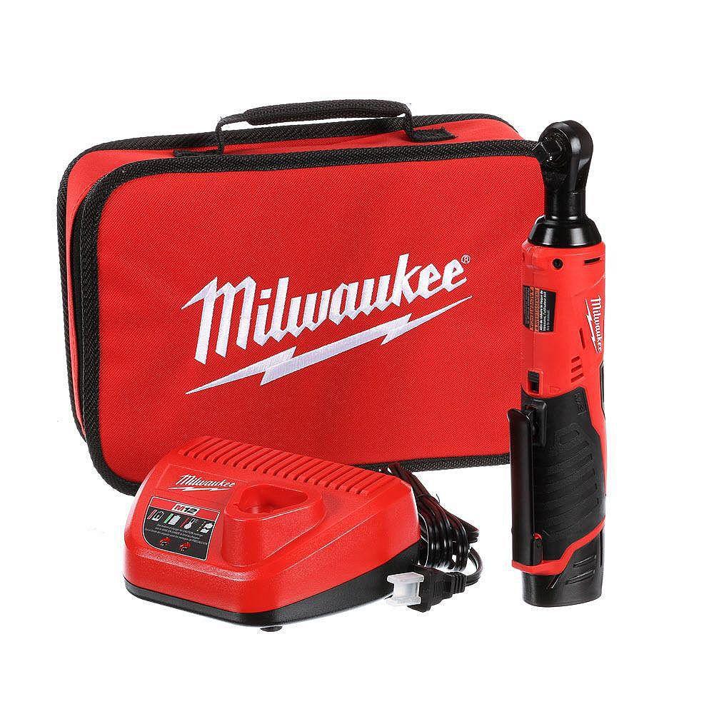 Milwaukee Tool Ensemble de clé à cliquet sans fil M12 de 3/8 po